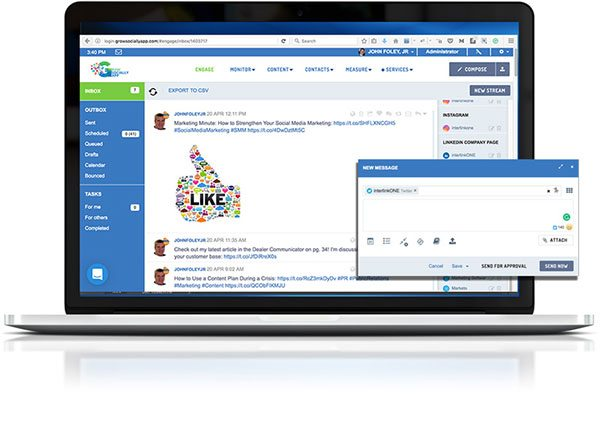 Social Media Management, Save Time Publishing to Social Media, screen shot